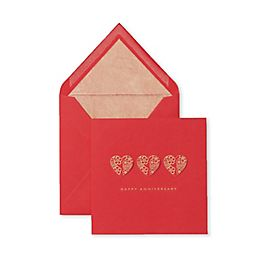 Floral Hearts Anniversary Card