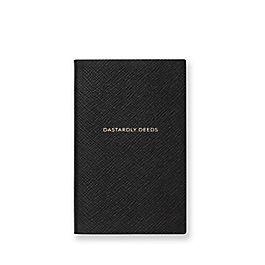 """Quaderno Panama """"Dastardly Deeds"""" in pelle"""