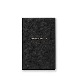 Leather Dastardly Deeds Panama Notebook