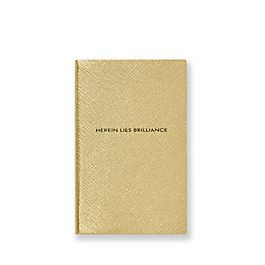 Leather Herein Lies Brilliance Panama Notebook