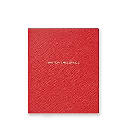 Leather Watch This Space Premier Notebook