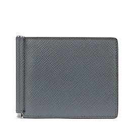 Brieftasche aus Leder mit Geldscheinklammer