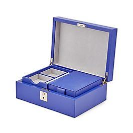 Boîte à bijoux en cuir avec plateau de voyage
