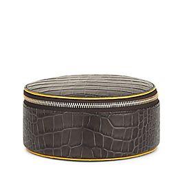 Leather Round Trinket Case