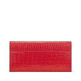Schmale Reisebrieftasche aus Leder