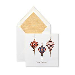 Cartes de vœux motif boules de Noël