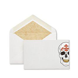 Biglietti corrispondenza con teschio