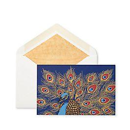 Grußkarten mit Pfauenmotiv