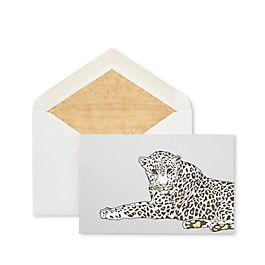 Cartes de correspondance motif léopard