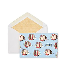 Cartes de correspondance motif poissons