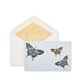 Biglietti corrispondenza con farfalle