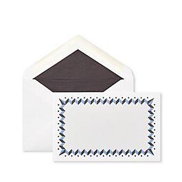 Biglietti corrispondenza bordati a zigzag