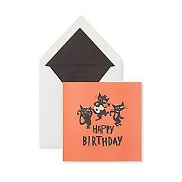 Carte d'anniversaire chats musiciens