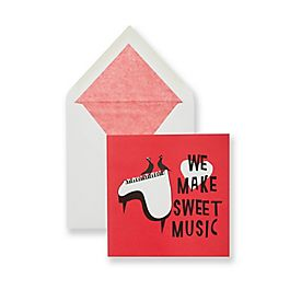 We Make Sweet Music Valentine's Card