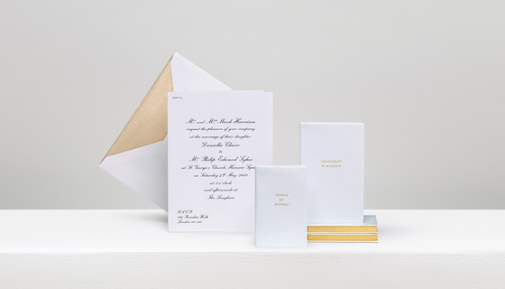 Smythsons Wedding Service Is The Haute Couture Of Personalised Stationery Tailored To Very Finest Specification Our Team Will Ensure That No Detail